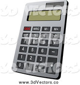 Vector Clipart of a Calculator by Vector Tradition SM