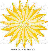 Vector Clipart of a Golden Star by KJ Pargeter