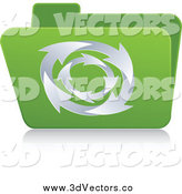 April 15th, 2014: Vector Clipart of a Green 3d Recycle Folder by Andrei Marincas