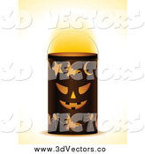 Vector Clipart of a Halloween Lantern by Elaineitalia