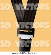 Vector Clipart of a Seat Belt Buckled on Orange by Michaeltravers