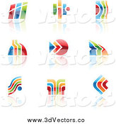 Vector Clipart of Colorful Abstract Designs by Cidepix