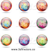 May 14th, 2014: Vector Clipart of Colorful Spheres by Cidepix