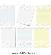 July 26th, 2014: Vector Clipart of Ruled, Black and Graph Paper Pages by Vector Tradition SM
