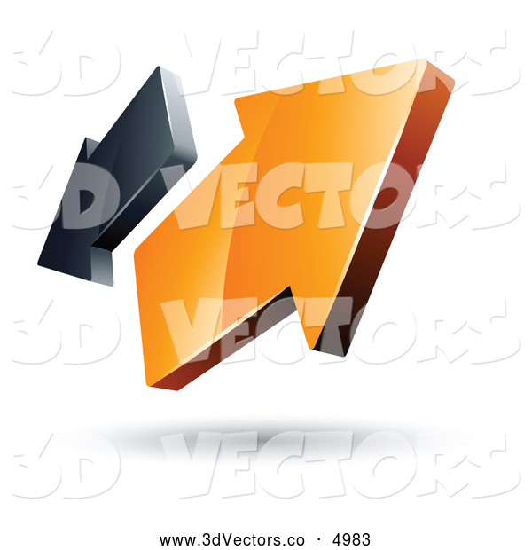 ... -Made Logo of Two Orange and Gray Arrows Going in Opposite Directions