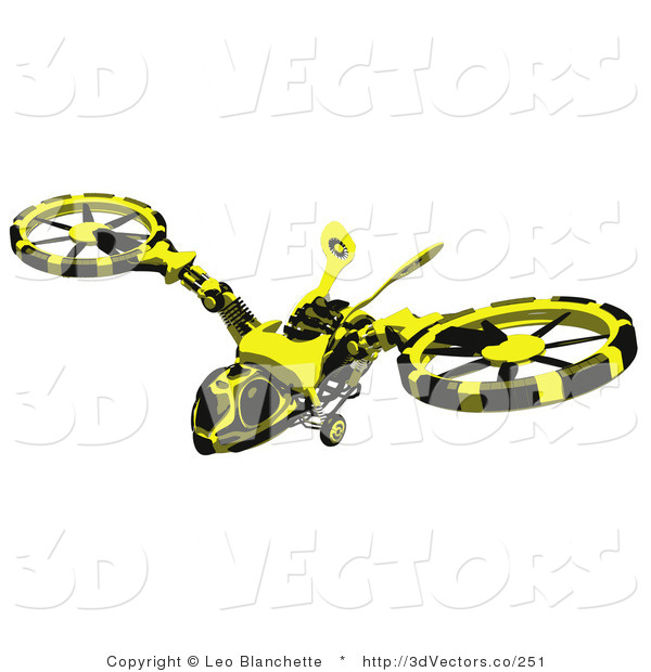 3d Vector Clipart of a Wasp Hovercraft