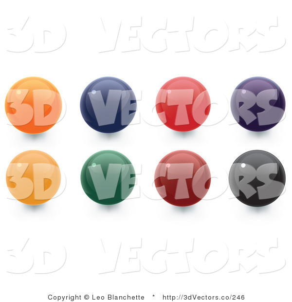 3d Vector Clipart of Colorful Sphere Orbs