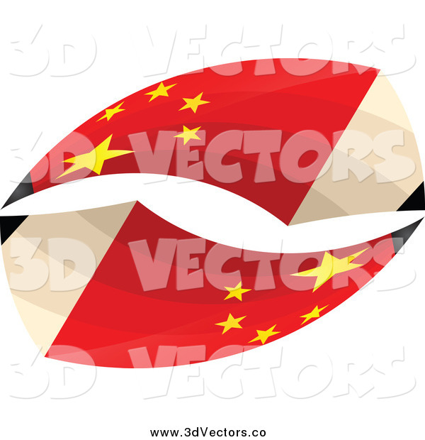 Vector Clipart of 3d Chinese Flag Pencils