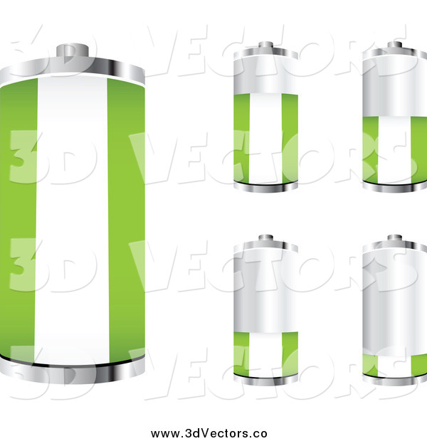Vector Clipart of a 3d Nigerian Flag Batteries