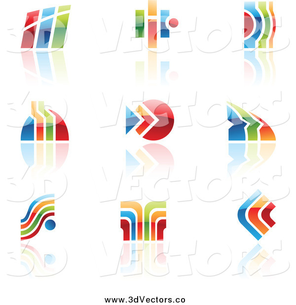 Vector Clipart of Colorful Abstract Designs