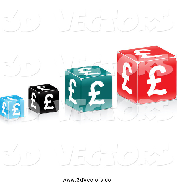 Vector Clipart of Lira Cubes
