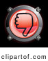 3d Vector Clipart of a Shiny Red Thumbs down Button Icon on Black by Frog974