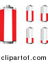 Vector Clipart of 3d Austrian Flag Batteries at Different Charge Levels by Andrei Marincas
