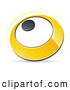 Vector Clipart of a 3d Yellow Circle by Beboy
