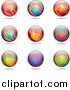 Vector Clipart of Colorful Spheres by Cidepix